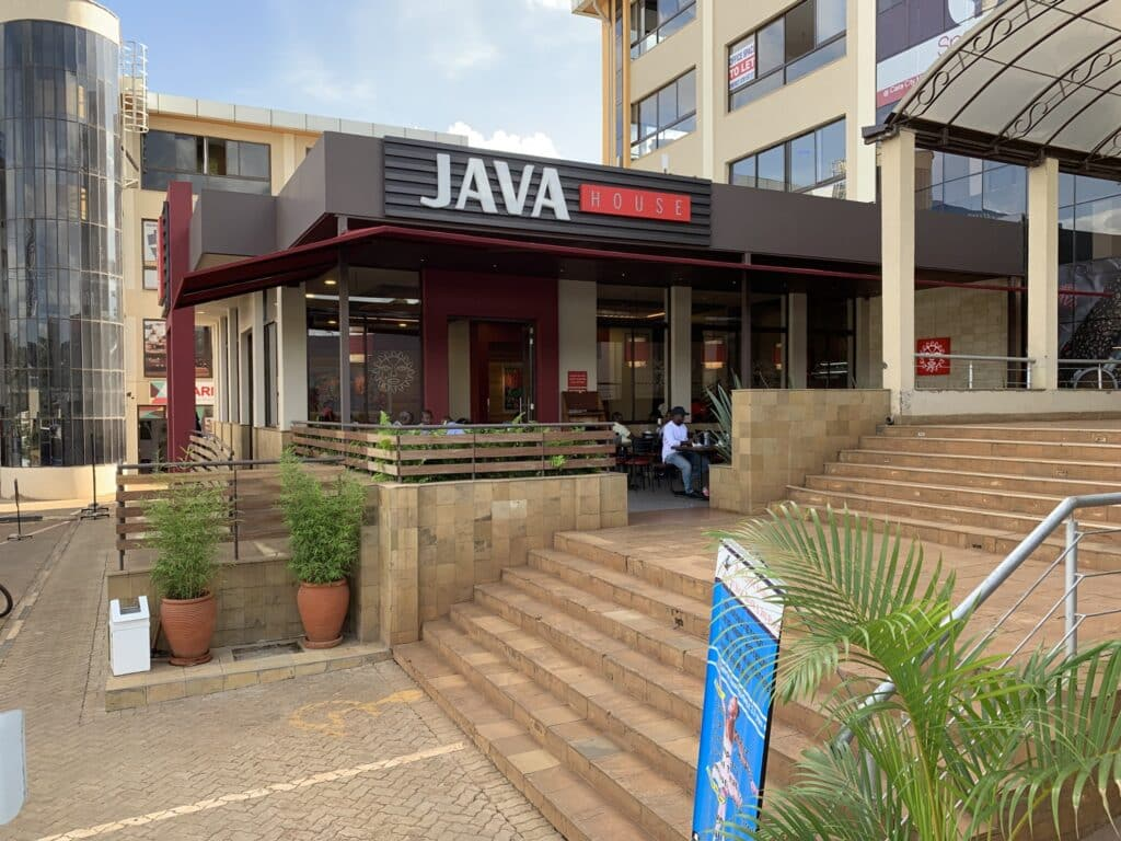 Arbeiten in Nairobi im Java Coffeehouse - hier Ciata Mall