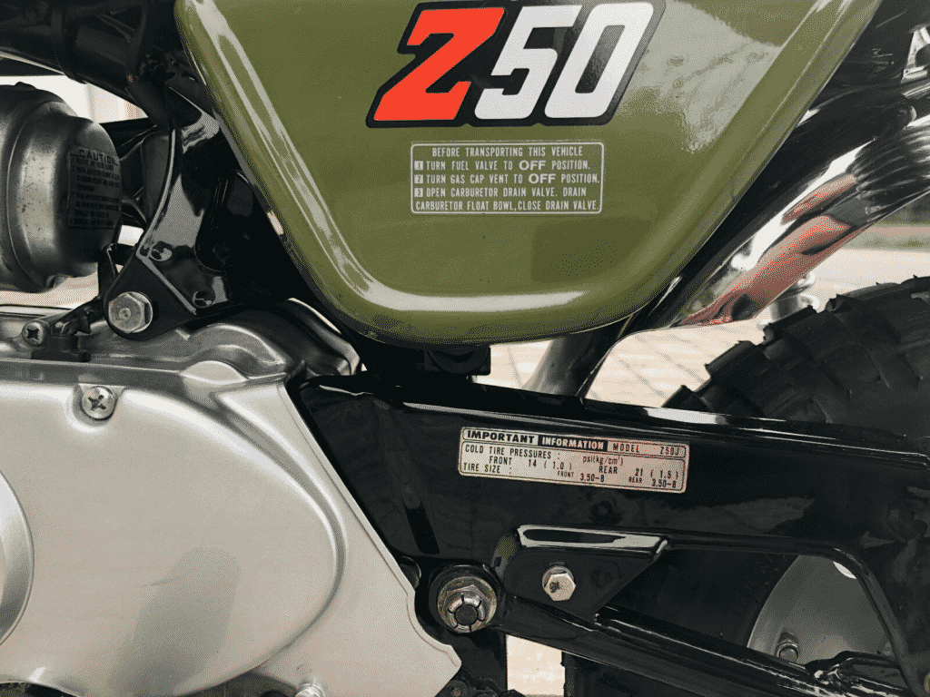 Honda Monkey 1976 in perfect conditon - cover detail